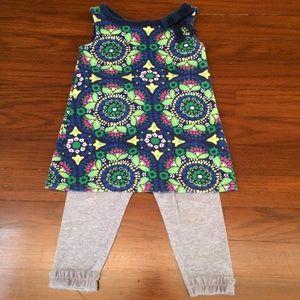 3/$15 baby gap lot dress green blue pants 18-24 mo